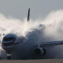 Видео посадки обстрела пассажирского самолета в Сирии