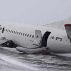 Появилось видео момента жёской посадки самолёта в Коми
