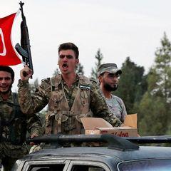Турецкие военные осквернили российский флаг - видео