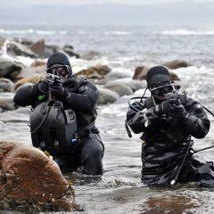 Прямо среди отдыхающих: военные учения на пляже попали на видео