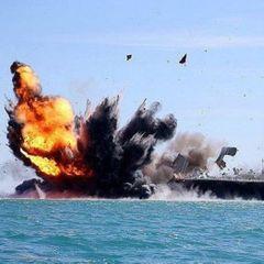 Показаны фото удара гиперзвуковой ракетой «Кинжал» по авианосцу