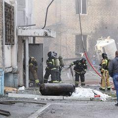 Момент взрыва в российской больнице попал на видео