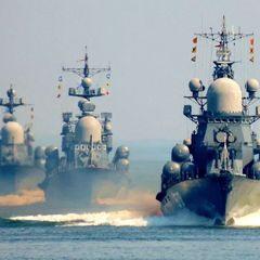 У берегов Крыма встали в строй более 20 боевых кораблей ВМФ РФ