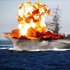 В США показали видео уничтожения ракетного крейсера
