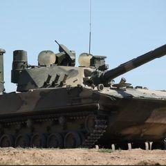 Легкий плавающий танк «Спрут-СДМ1» показали в бою