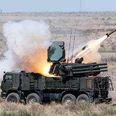 Вот как российский «Панцирь-С» уничтожает вооружение сирийских боевиков