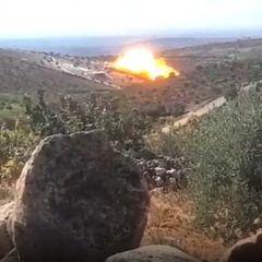Российские самолеты ударили термобомбами по сирийским террористам