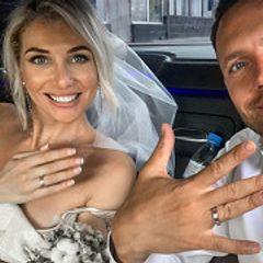 Ведущий Первого канала женился на 23-летней красотке